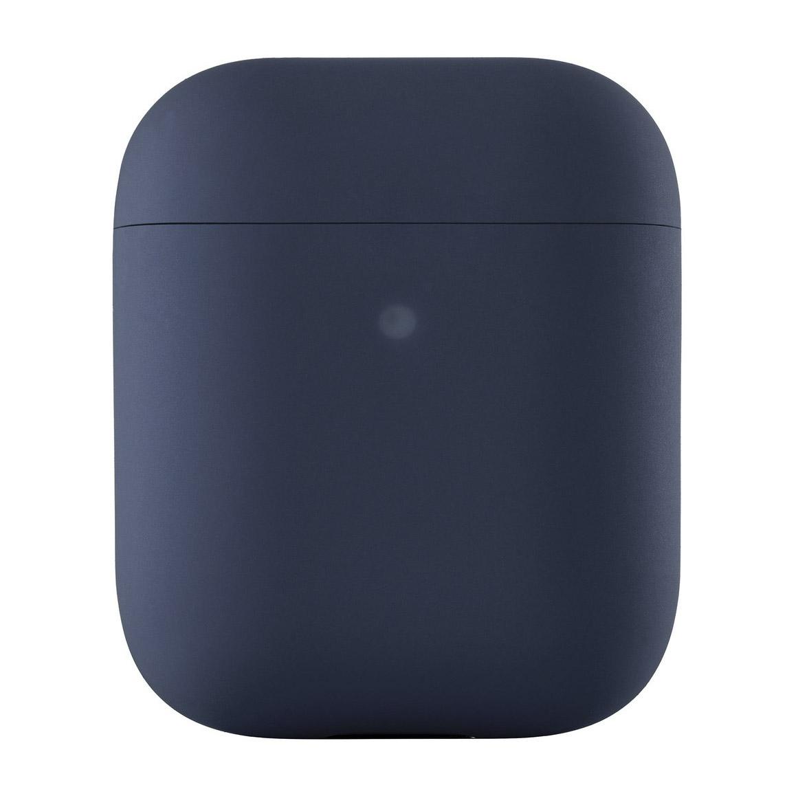 Чехол uBear для наушников Apple AirPods, синий чехол для наушников steward для apple airpods blue