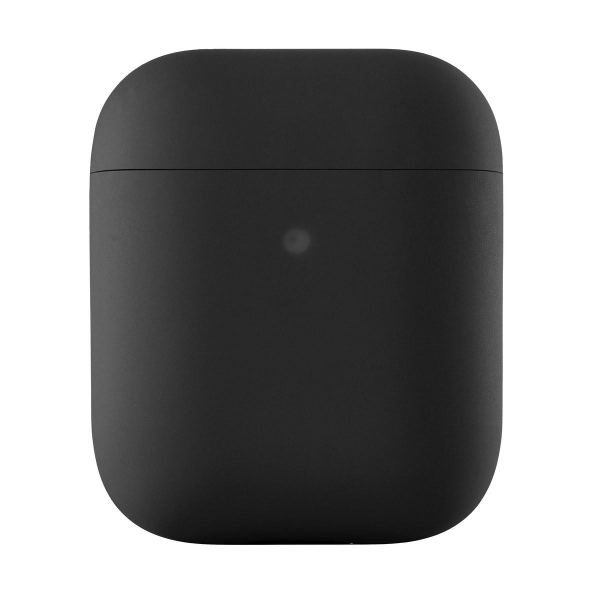 Чехол uBear для наушников Apple AirPods, черный чехол для наушников steward для apple airpods blue