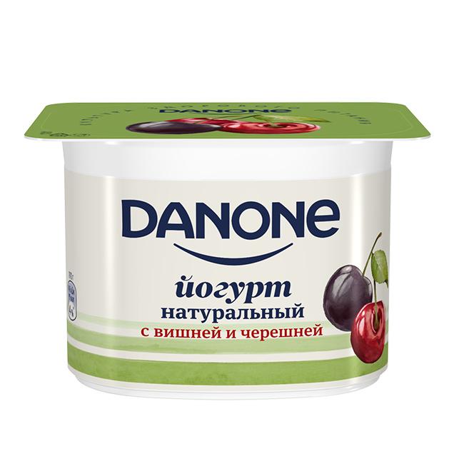 Фото - Йогурт Danone Вишня-Черешня 2,8% 260 г йогурт питьевой активиа вишня семена чиа 2 1% 260 г