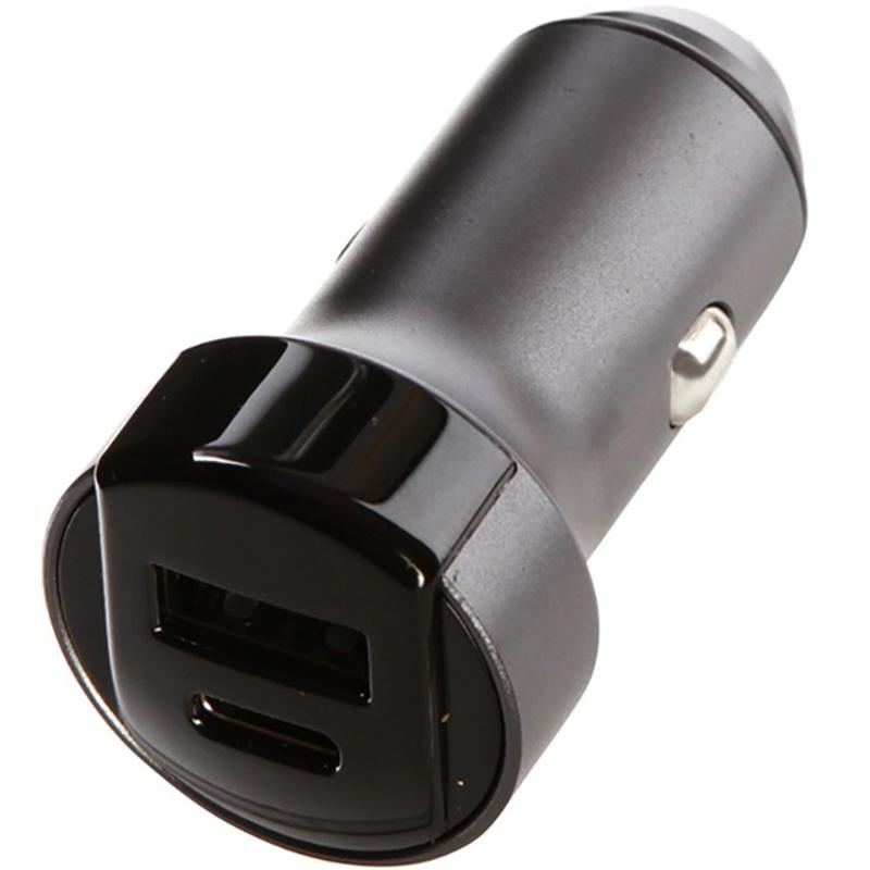 Автомобильное зарядное устройство Red Line АС-19 серый автомобильное зарядное устройство red line tech usb qс 3 0 18w и type c pd 18w модель ас 19 3a серый