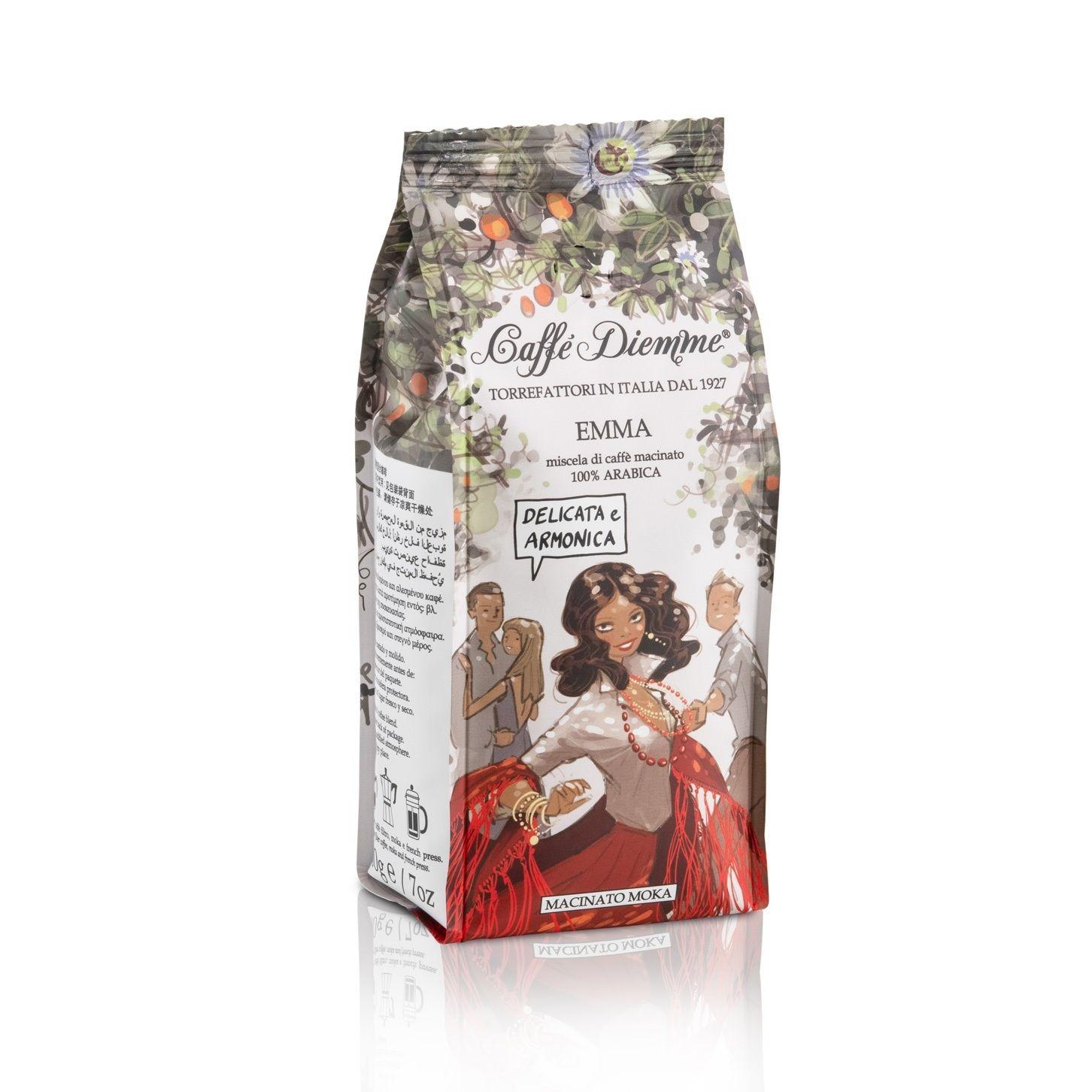 Кофе молотый Caffe Diemme Blend Emma 200 г кофе индийский молотый espresso blend hindica 200 г