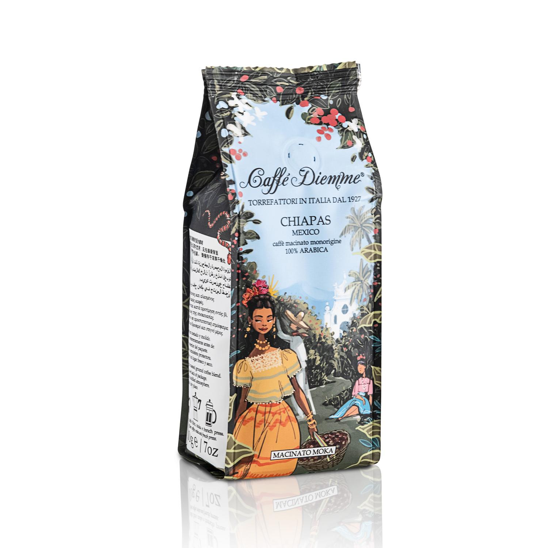 Кофе молотый Caffe Diemme Blend Chiapas Mexico 200 г кофе индийский молотый espresso blend hindica 200 г