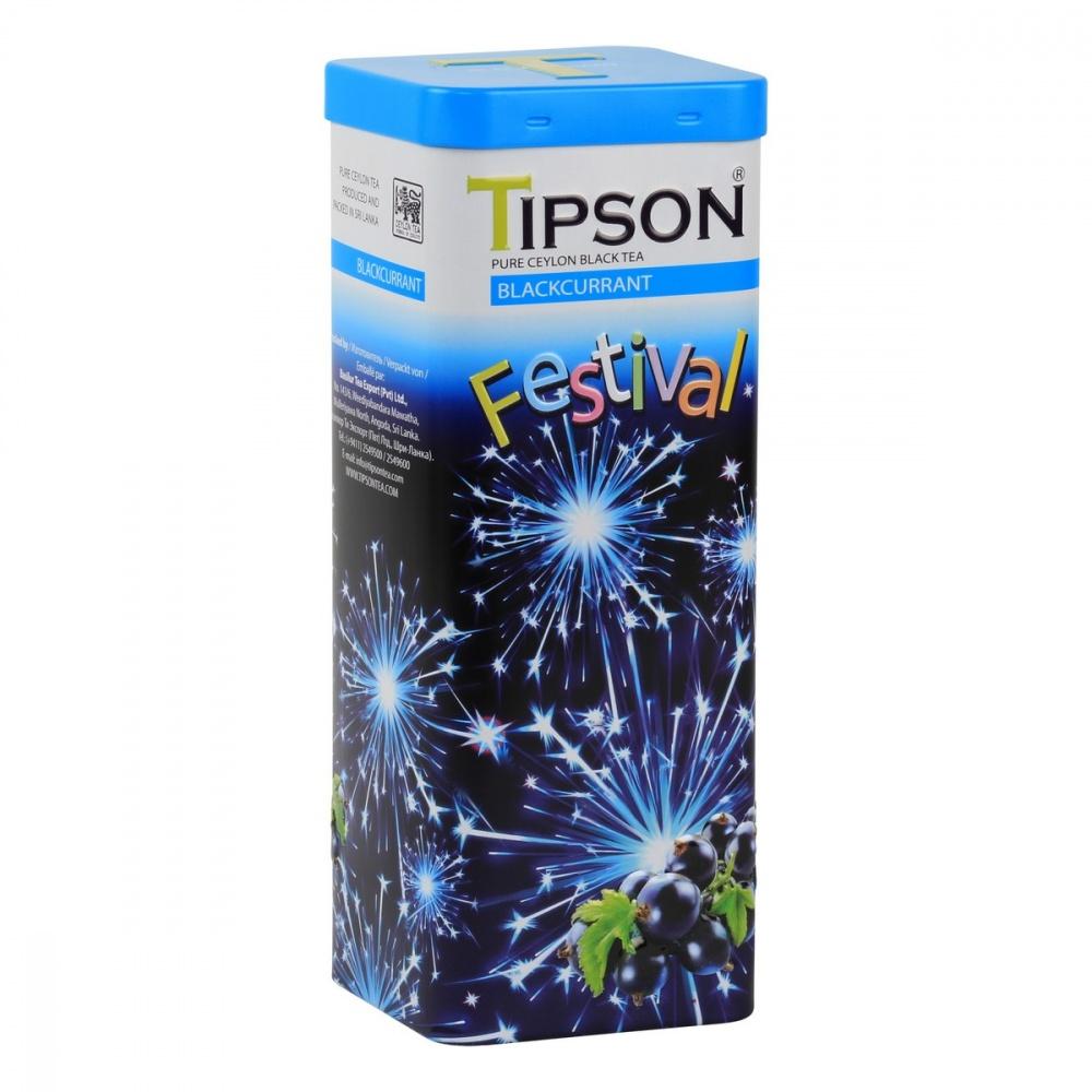 Чай черный Tipson Фестиваль черная смородина 75 г чай черный teekanne черная смородина гранат листовой 150 г