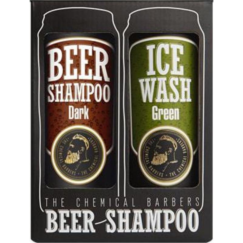 Подарочный набор The Chemical Barbers Восстанавливающий Шампунь для волос с аргановым маслом + Освежающий гель для душа с мятой и эвкалиптом 2x440 мл фото