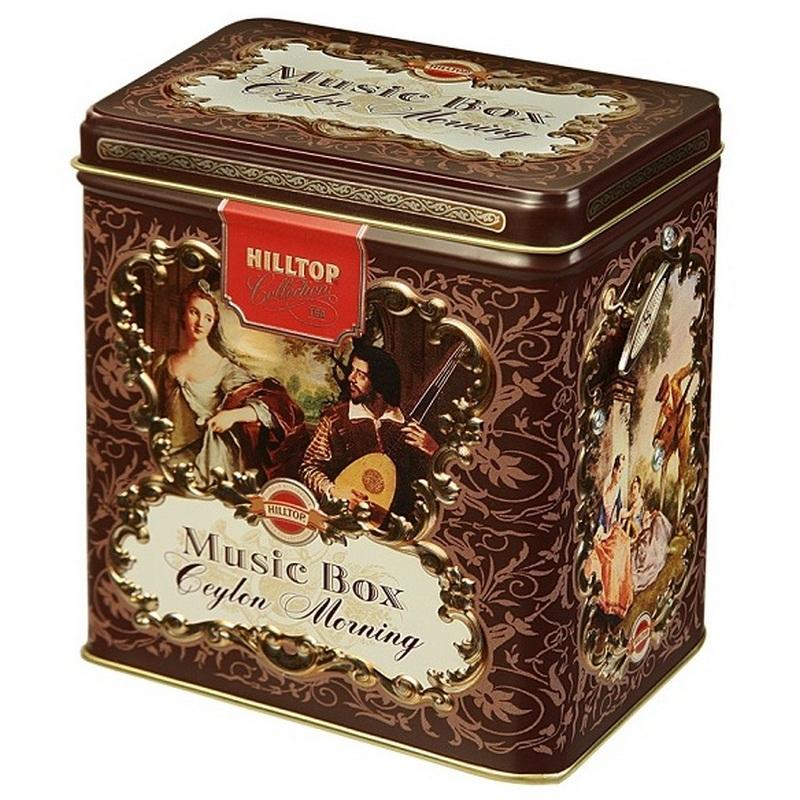 Чай черный Hilltop Цейлонское утро в музыкальной шкатулке листовой, 100 г чай в музыкальной шкатулке hilltop земляника со сливками черный с добавками 100 гр