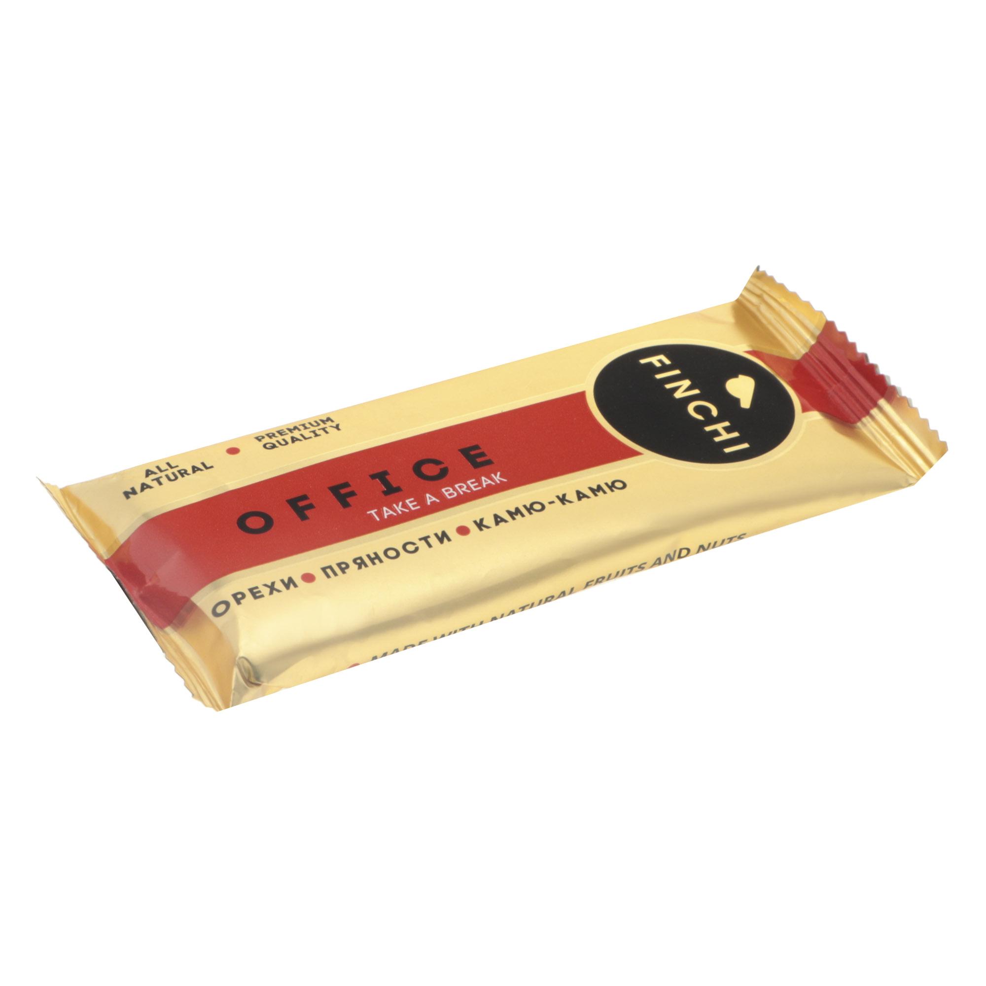 Батончик Finchi Office орехи, пряности, камю-камю, 47 г батончик finchi tonus какао клюква гуарана 47 г