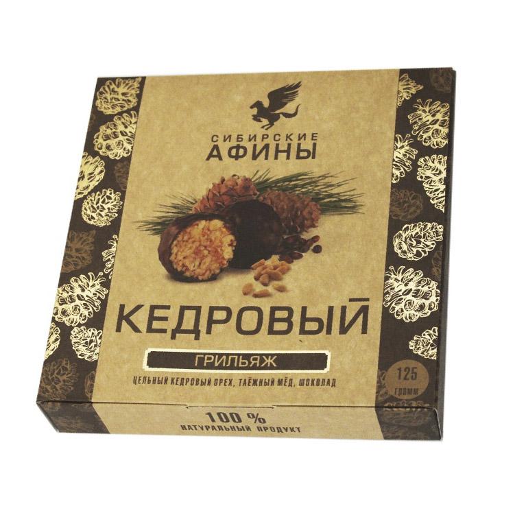 кедровый грильяж сибирские афины с вишней 125 г Кедровый грильяж Сибирские Афины классический 125 г
