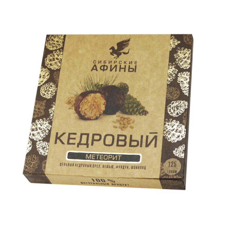 кедровый грильяж сибирские афины с вишней 125 г Кедровый Метеорит Сибирские Афины с сосновой шишкой 125 г
