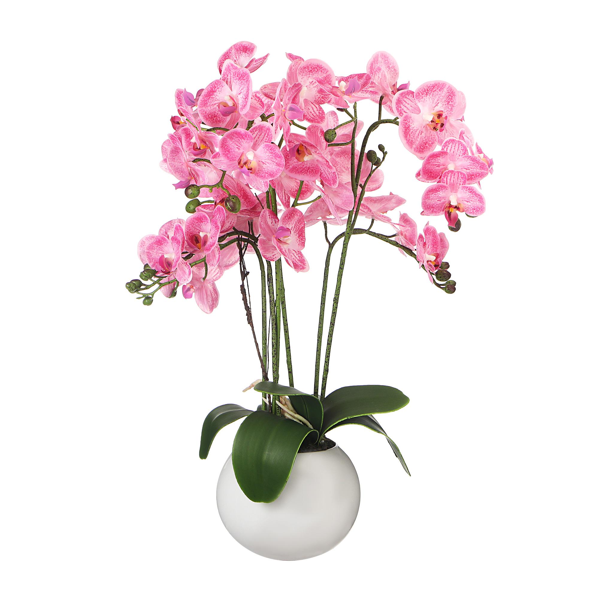 Цветок искусственный в горшке Colorful орхидея rosedust 48/80см
