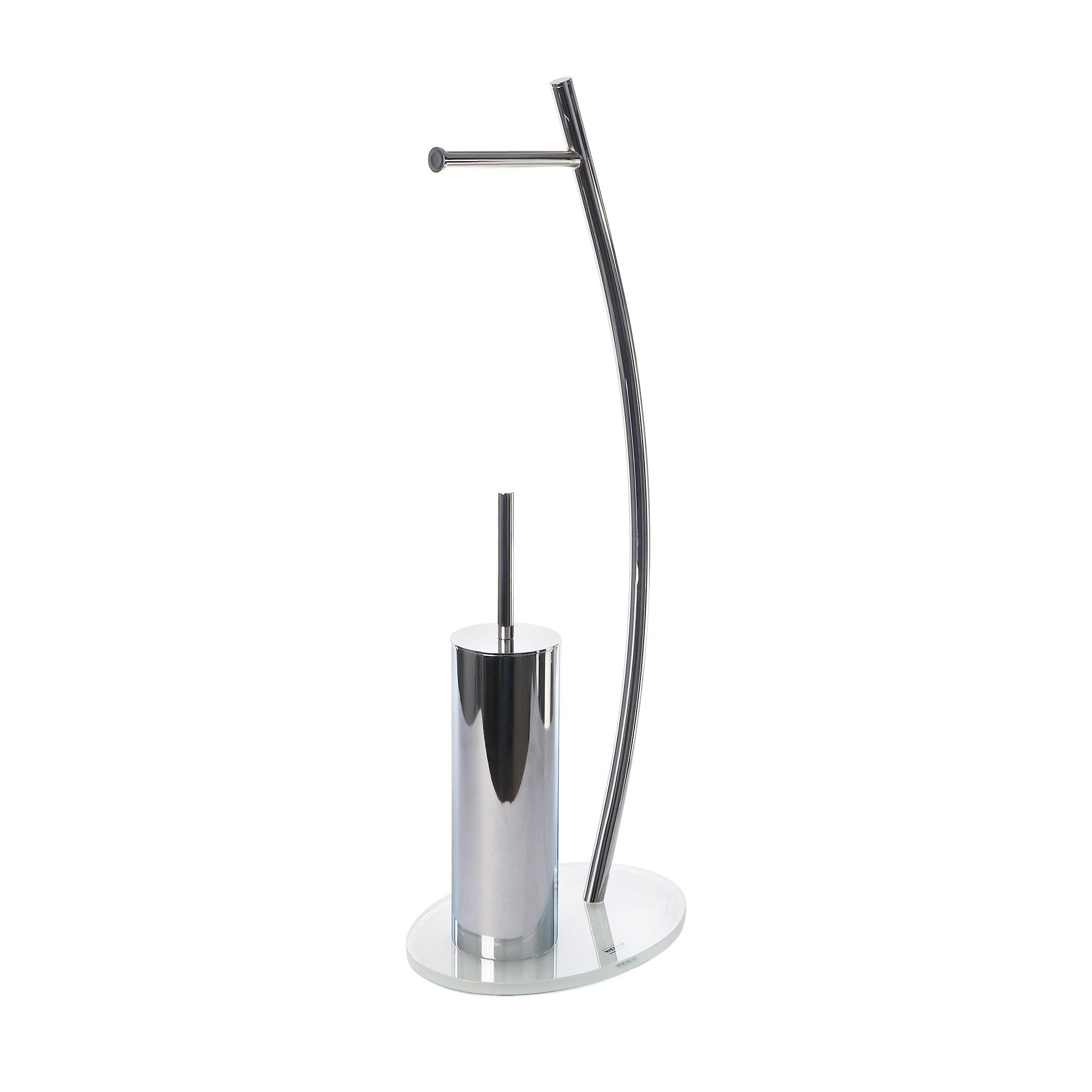 Купить Гарнитур для туалета Wenko sanitary ascea, хром, пластик (пвх, полиуретан), закалённое стекло