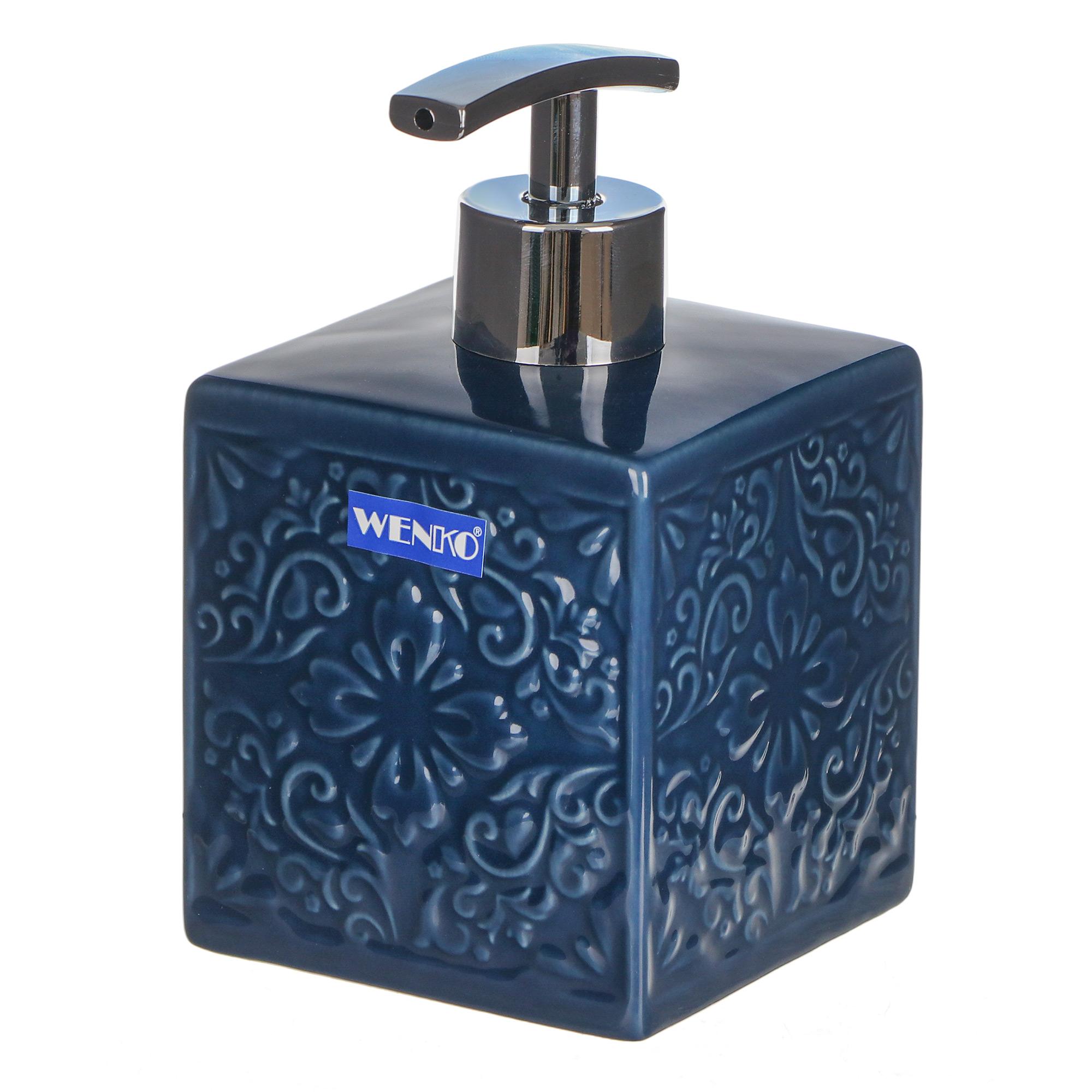 Дозатор для мыла Wenko sanitary cordoba тёмн-синий дозатор для мыла wenko sanitary goa бежевый