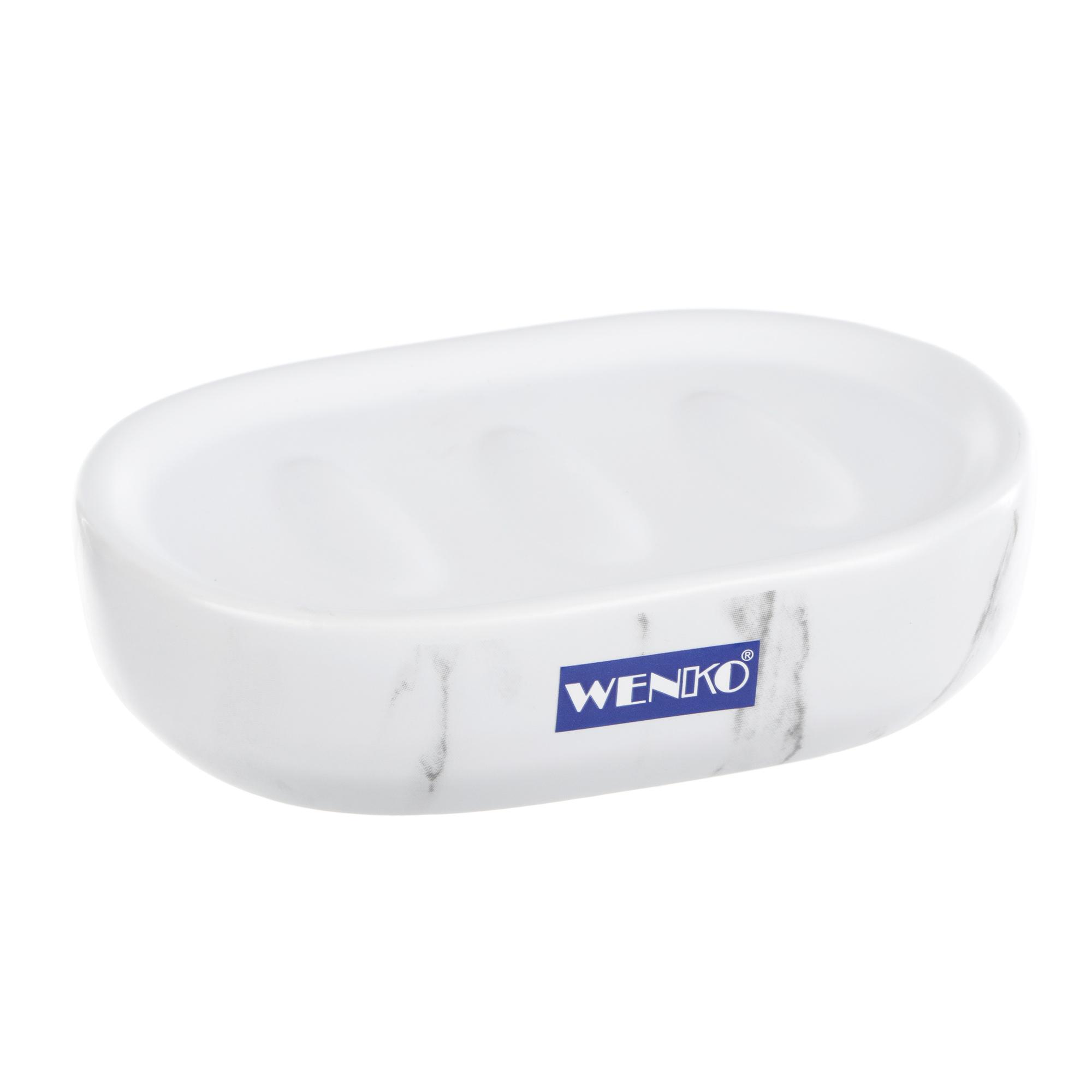 Фото - Мыльница Wenko sanitary adrada белая стеллаж напольный 4 полки wenko sanitary