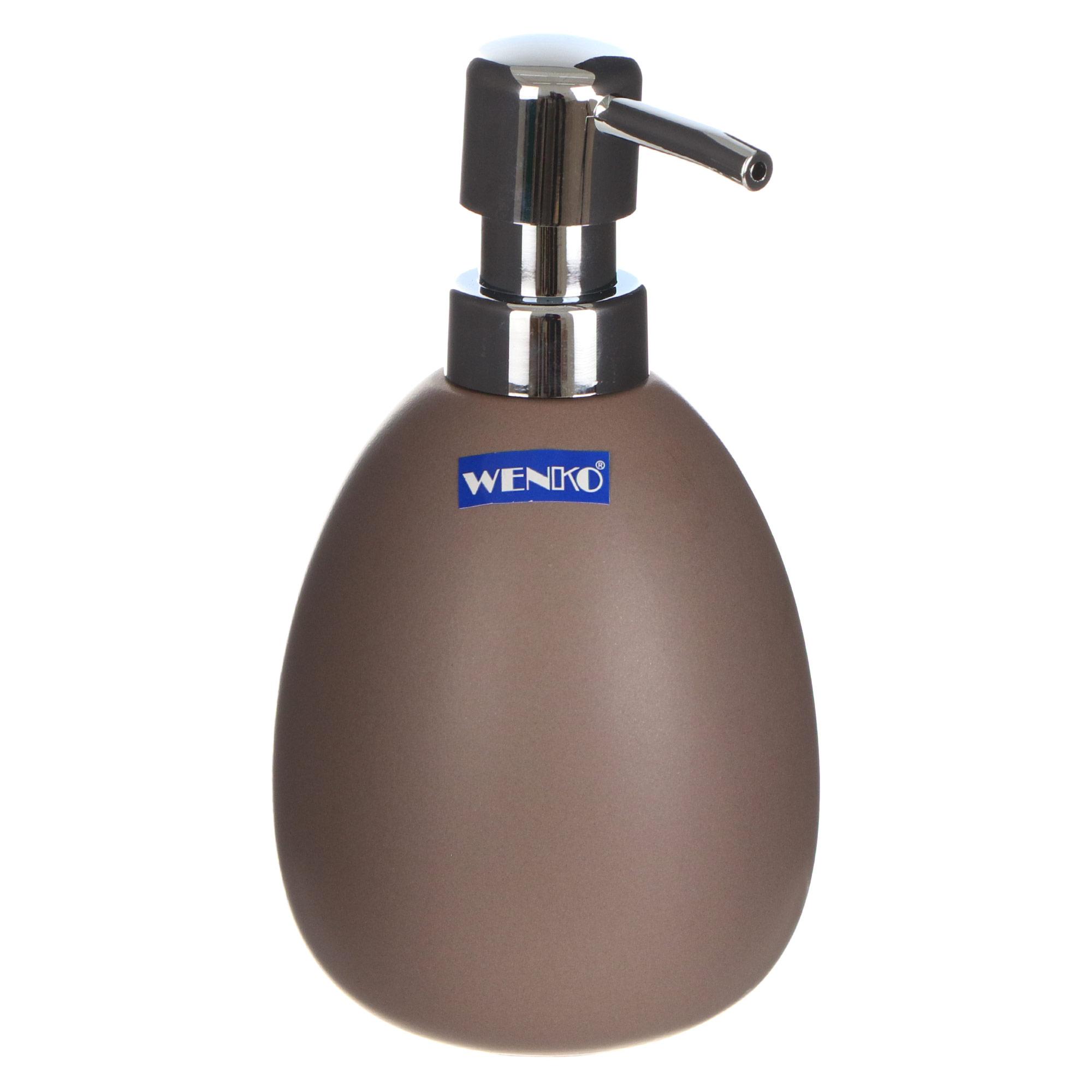 Дозатор для мыла Wenko sanitary polaris серо-коричневый дозатор для мыла wenko sanitary goa бежевый