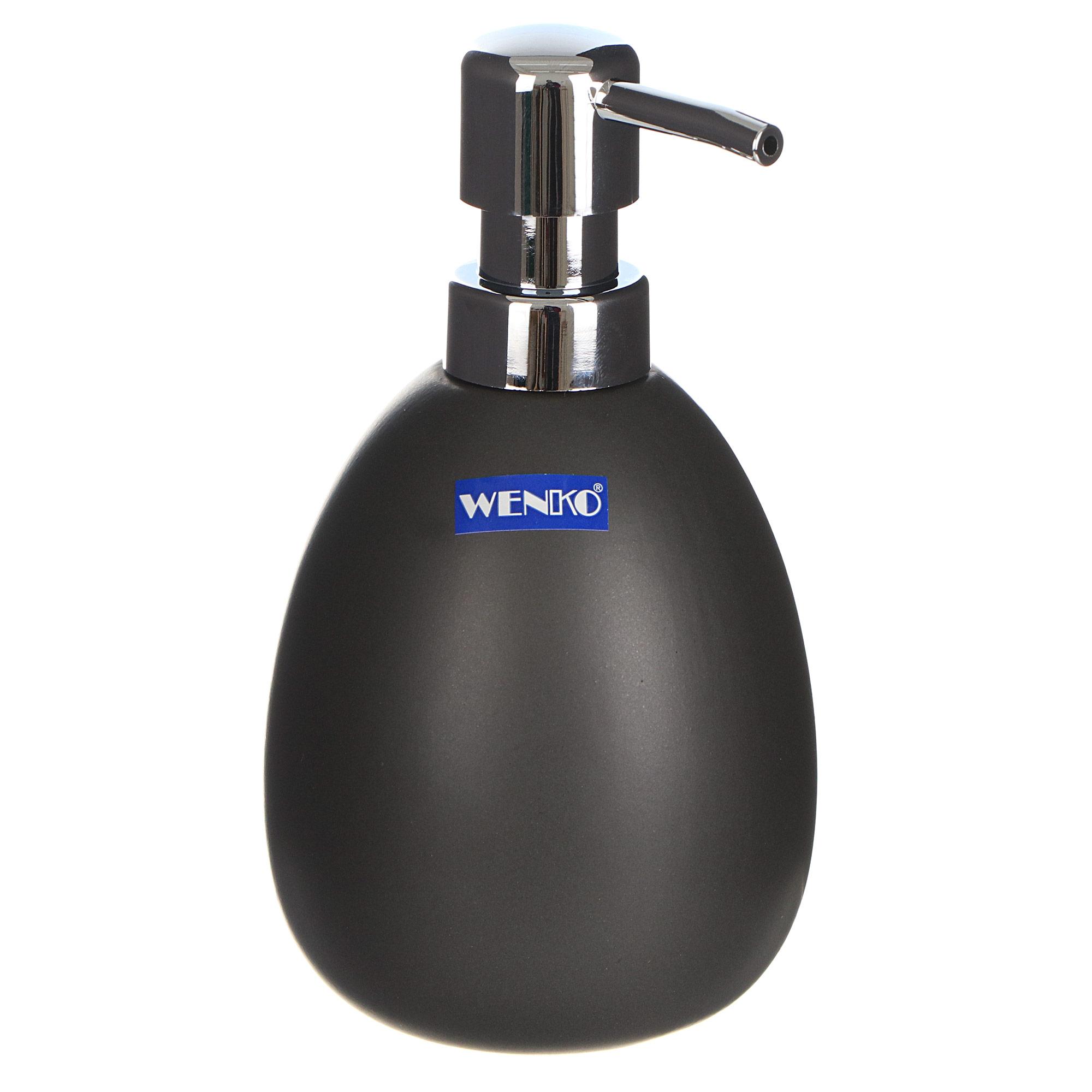 Дозатор для мыла Wenko sanitary polaris серый фото