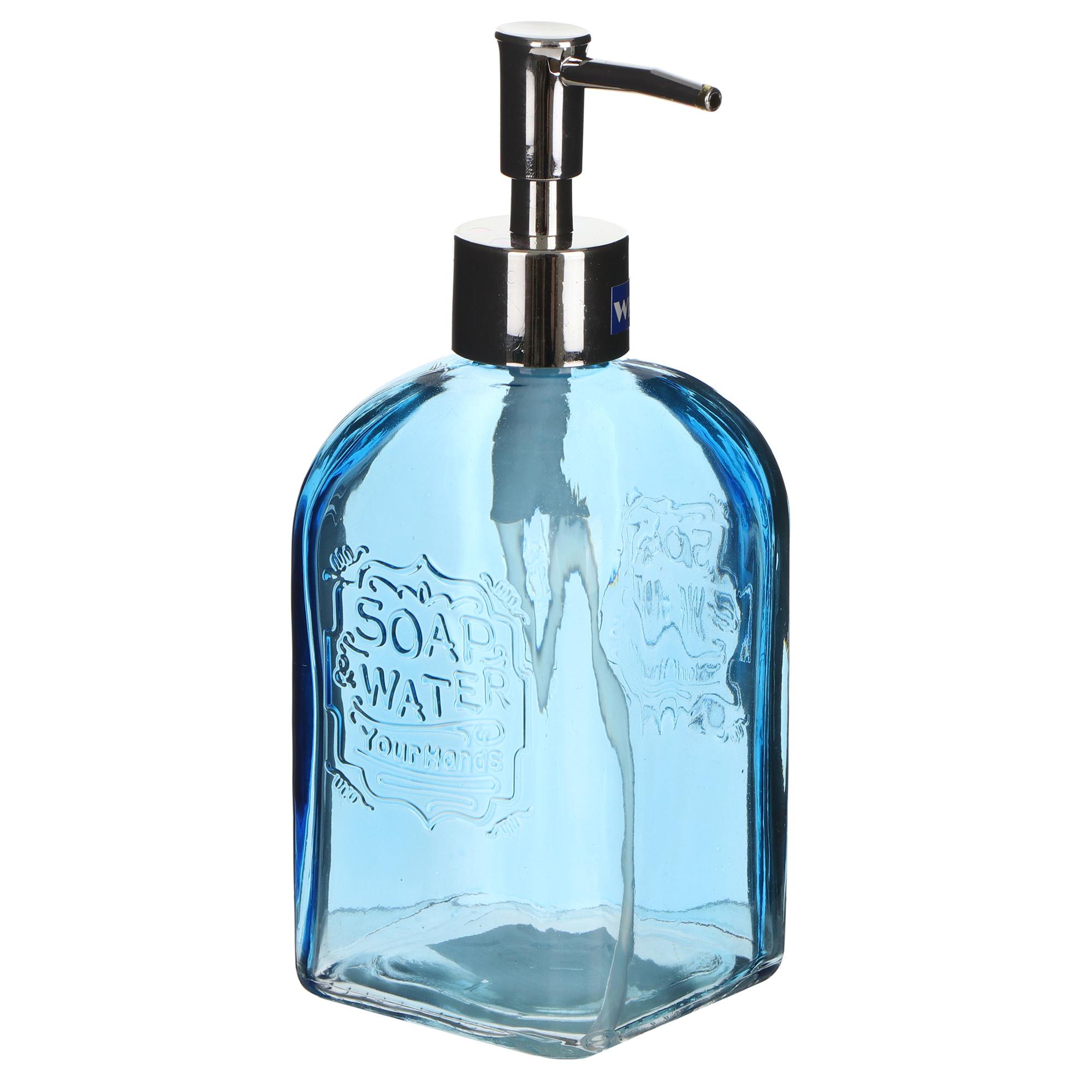 Дозатор для мыла Wenko sanitary vetro round голубой дозатор для мыла wenko sanitary goa бежевый