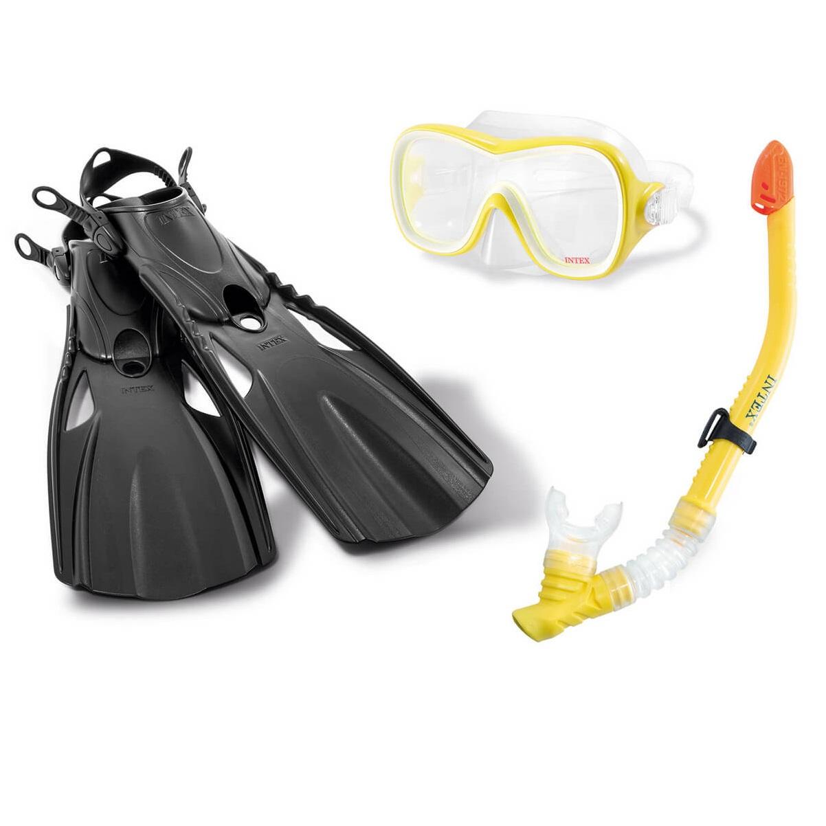 Фото - Спортивный набор для плавания Intex wave rider набор для плавания intex aqua pro серый
