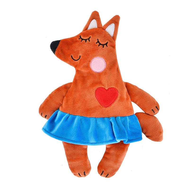 maxitoys мягкая игрушка maxitoys luxury slim лисичка с цветочком 33 см Игрушка-грелка Maxitoys Лисичка 30 см