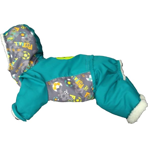 Купить Комбинезон для собак ДОГ МАСТЕР Лыжник размер S 24 см, комбинезон, синий, серый, полиэстер, искусственный мех