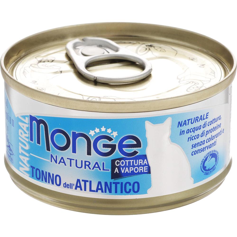 Фото - Корм для кошек Monge Cat Natural Атлантический тунец 80 г корм для кошек monge cat natural тунец с курицей иговядиной конс