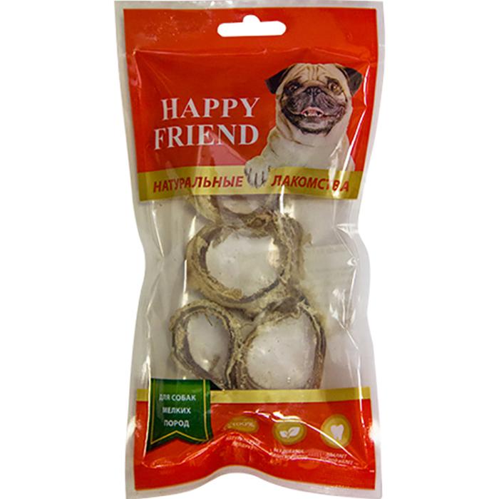 Лакомство для собак Happy Friend Кольца из говяжьей трахеи 40 г.