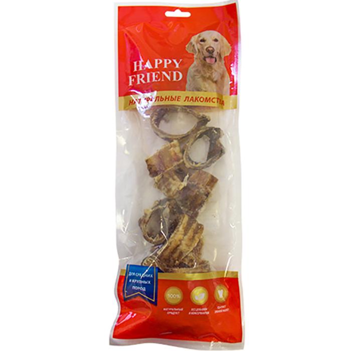 Лакомство для собак Happy Friend Кольца из говяжьей трахеи 120 г.