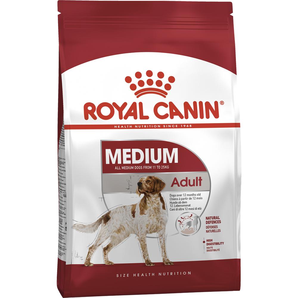 Корм собак Royal Canin Medium Adult от 12 месяцев 3 кг.