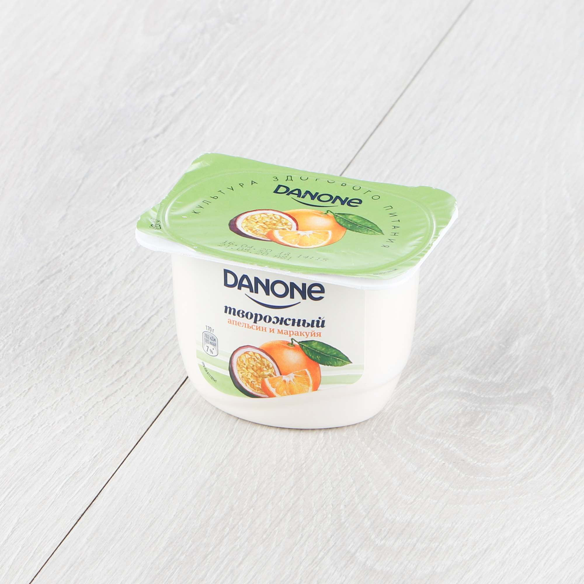 творог danone натуральный 5% 170 г Творог Danone Апельсин, маракуйя 170 г