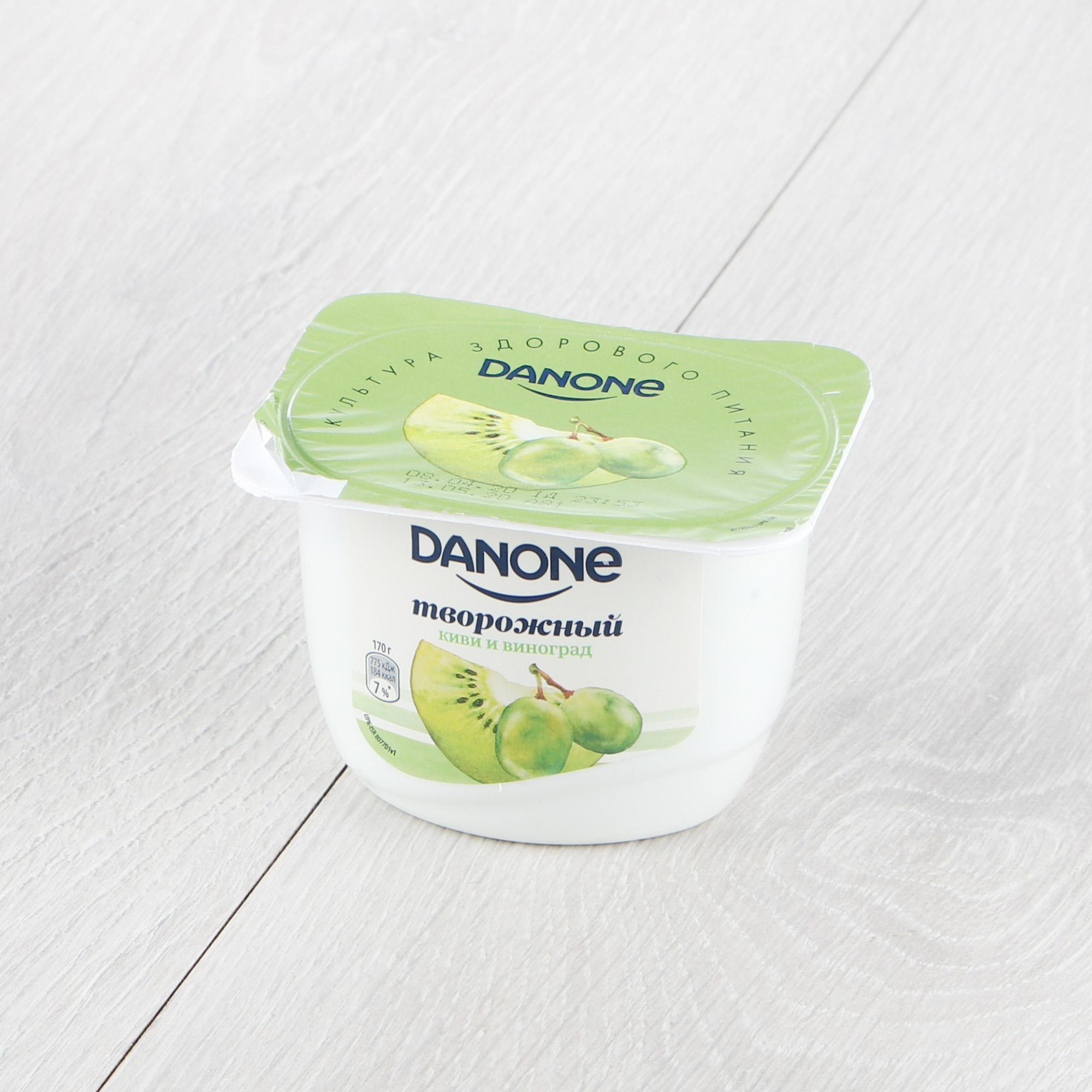творог danone натуральный 5% 170 г Творог Danone Киви, виноград 170 г