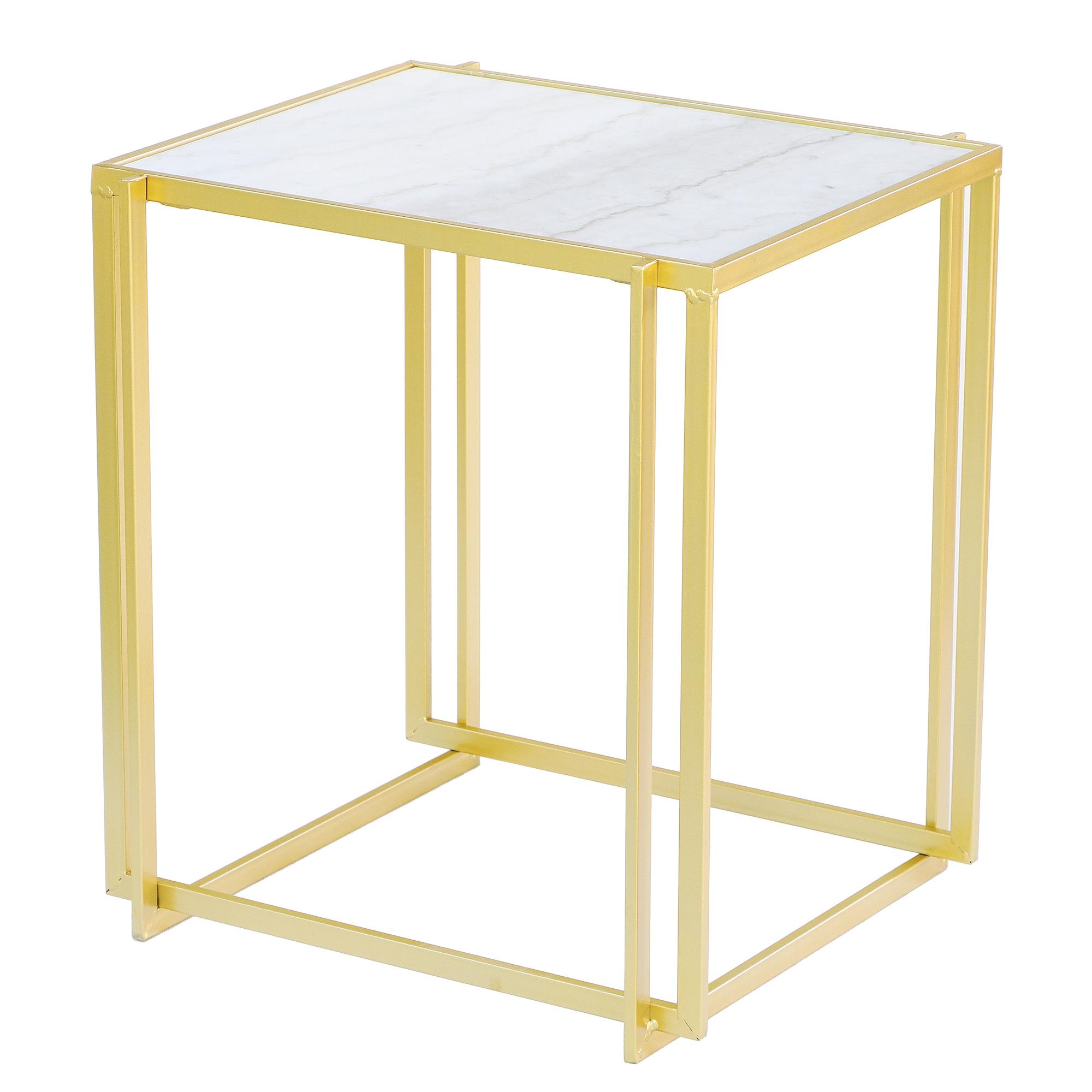 Фото - Столик приставной Glasar 51х45х57 см столик приставной glasar серебристого цвета с золотыми птичками на ветке 43x43x71 см