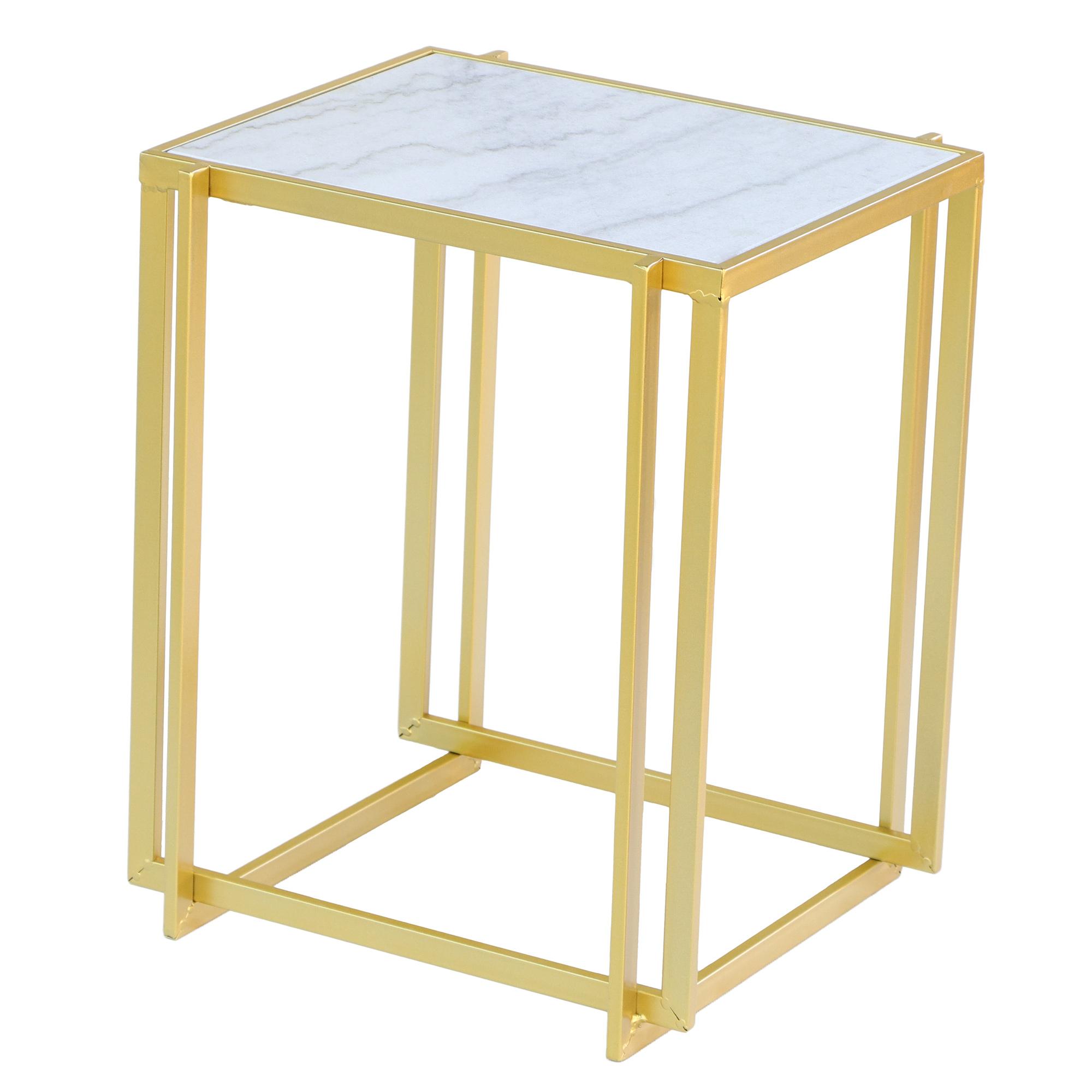 Фото - Столик приставной Glasar 41х37х50 см столик приставной glasar серебристого цвета с золотыми птичками на ветке 43x43x71 см