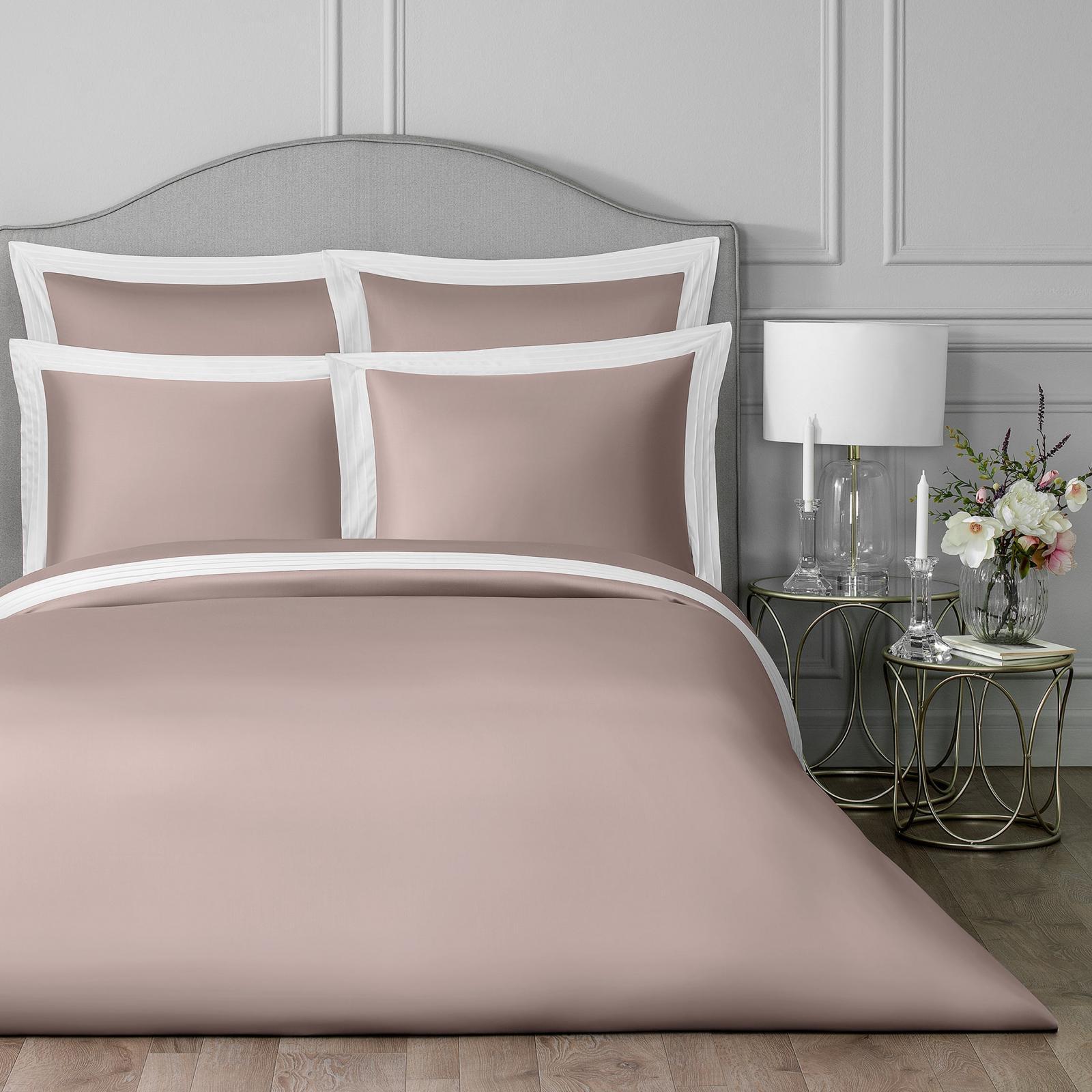 Постельный комплект Togas Эдем розовый/белый двуспальный
