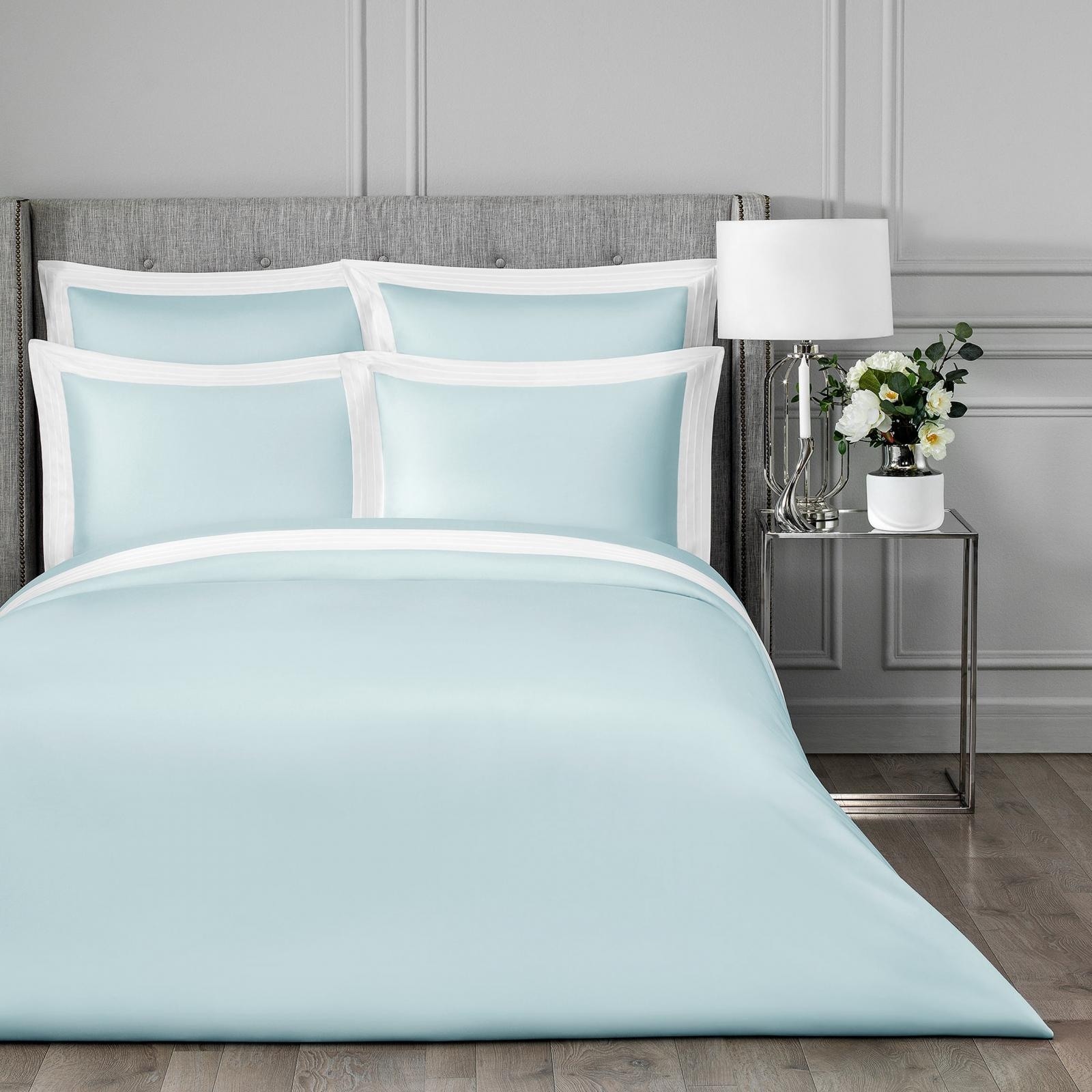 Фото - Постельный комплект Togas Эдем голубой/белый двуспальный постельный комплект togas кеннет темно синий двуспальный