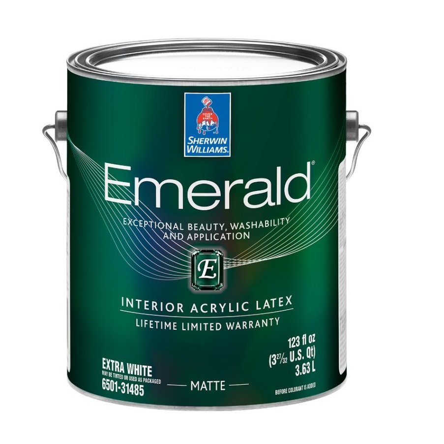 Фото - Краска Sherwin-Williams эмерал полуматовая экстра-белая 3.8 эмаль sherwin williams all surface enamel latex gloss белая 3 8 л
