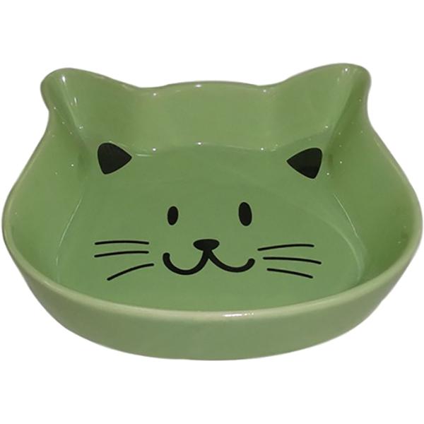 Миска для животных Foxie Kitty зеленая 220 мл.