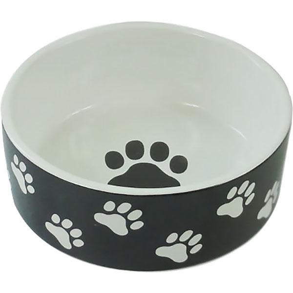 Миска для животных Foxie Paws черная 420 мл.