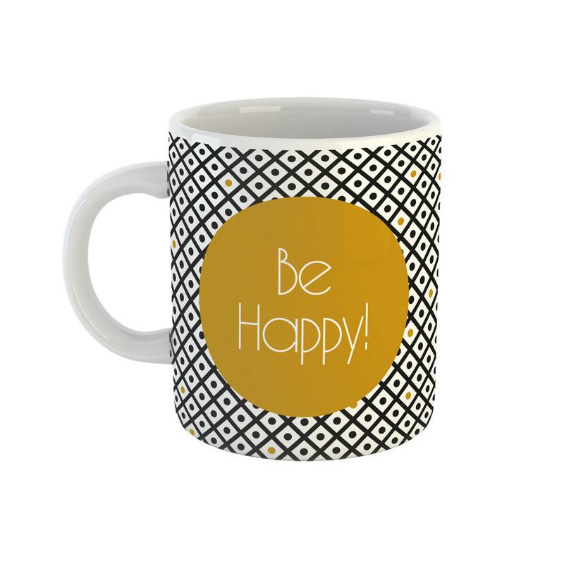Кружка Be Happy Black&Gold 350 мл фото