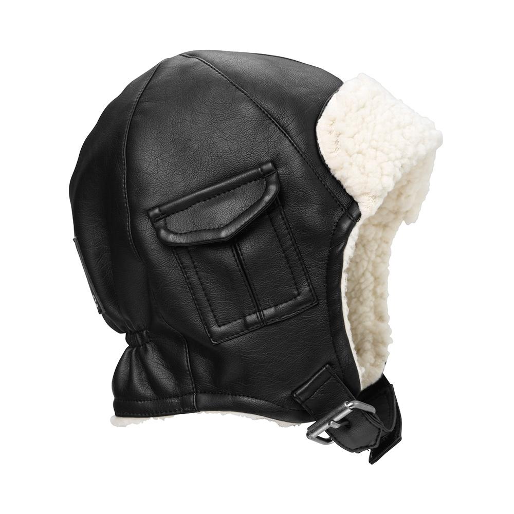 Купить Шапочка Elodie Aviator Black 1-2 года, Elodie Details, Черный, Корпус: 100% полиуретан, подкладка 100% полиэстер, отделка искусственным мехом: 100% полиэстер, Для мальчиков, Зима,