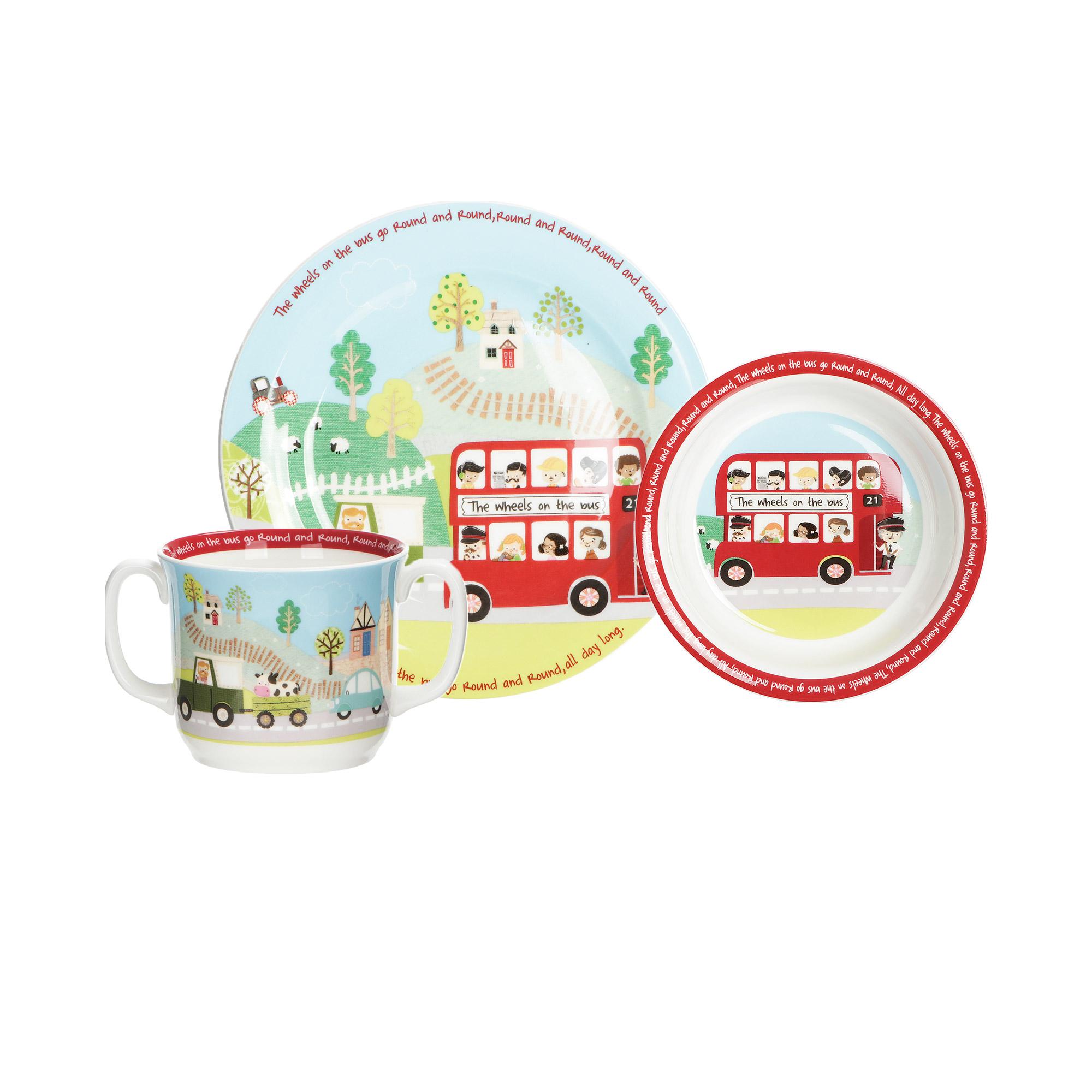 Набор детской посуды Hankook Red Bus фарфор 3 предмета