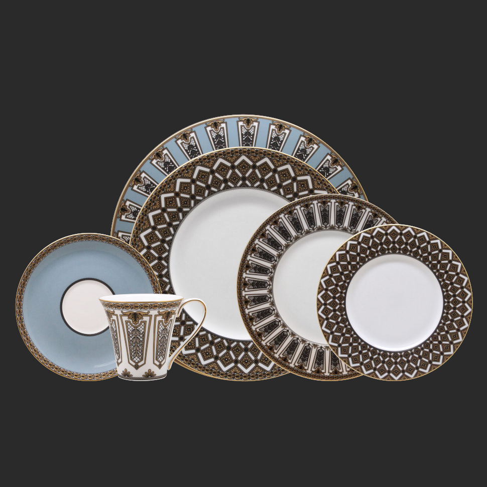 Фото - Чайный сервиз Hankook/Prouna Треллис 22 предмета чайный сервиз hankook prouna блэк палас с кристаллами swarovski 22 предмета