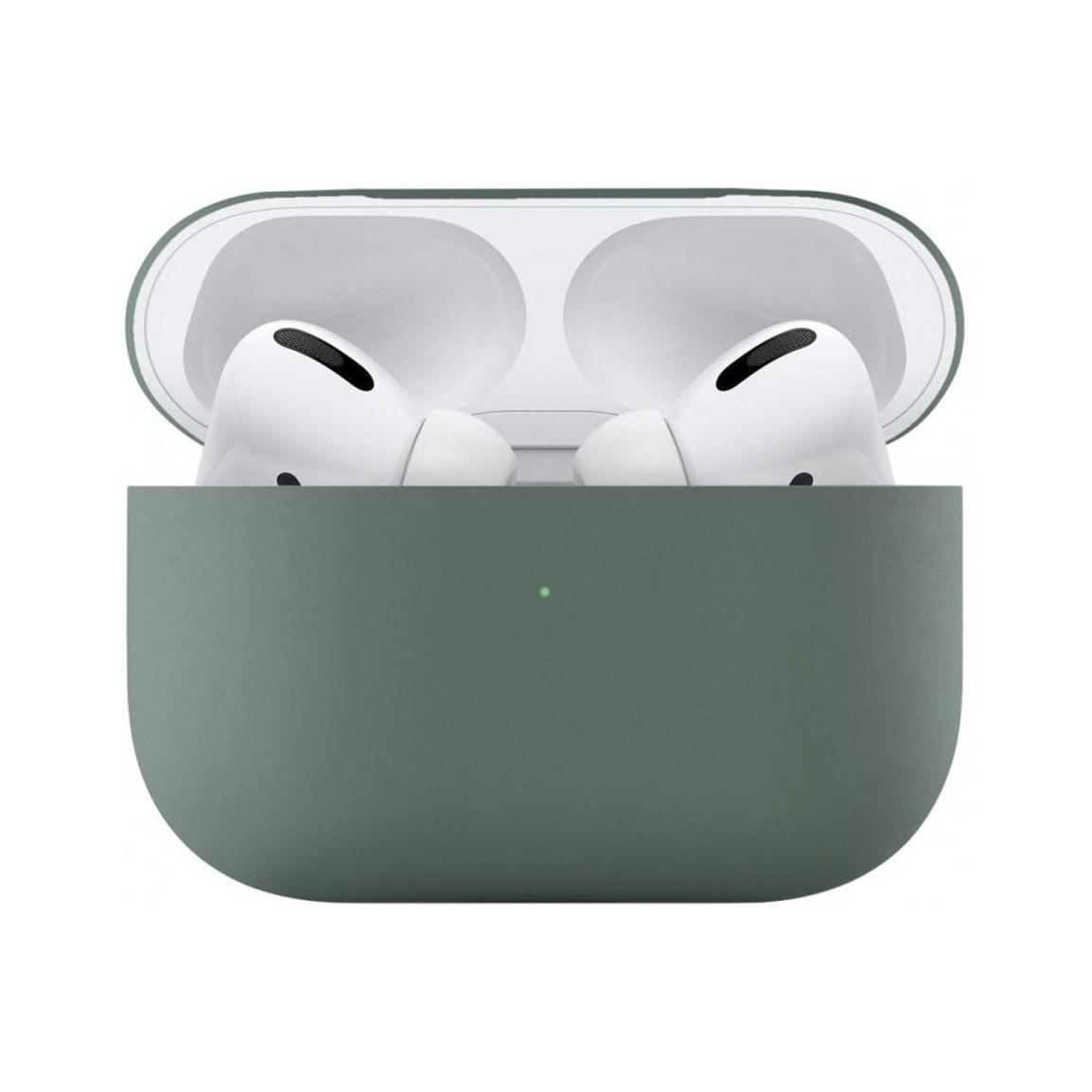 Чехол uBear для наушников Apple AirPods Pro, зеленый чехол для наушников steward для apple airpods blue