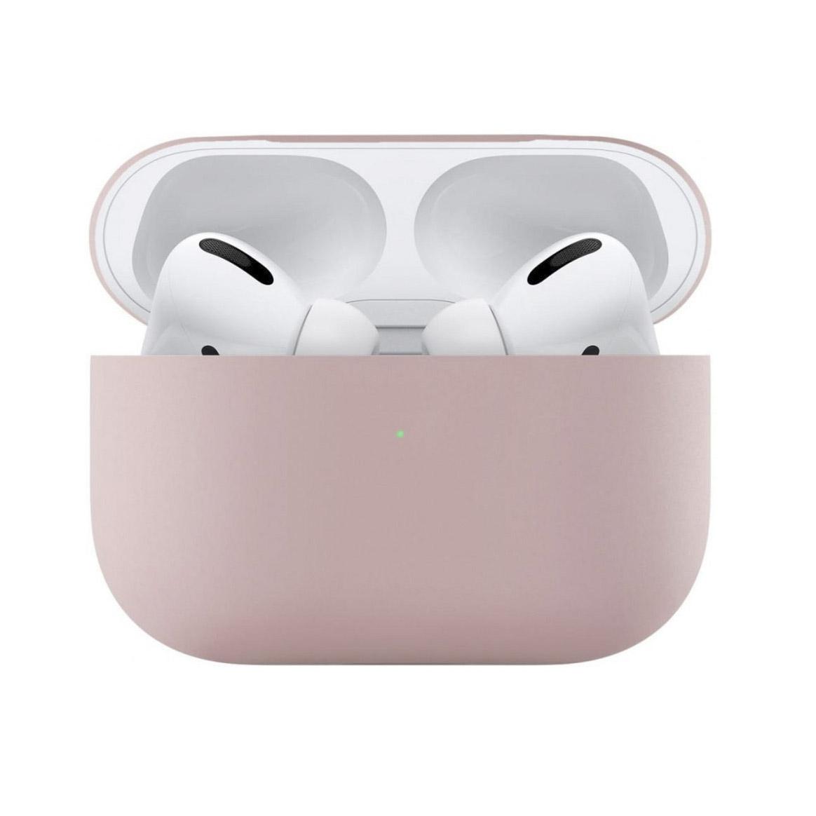 Чехол uBear для наушников Apple AirPods Pro, розовый чехол для наушников steward для apple airpods blue