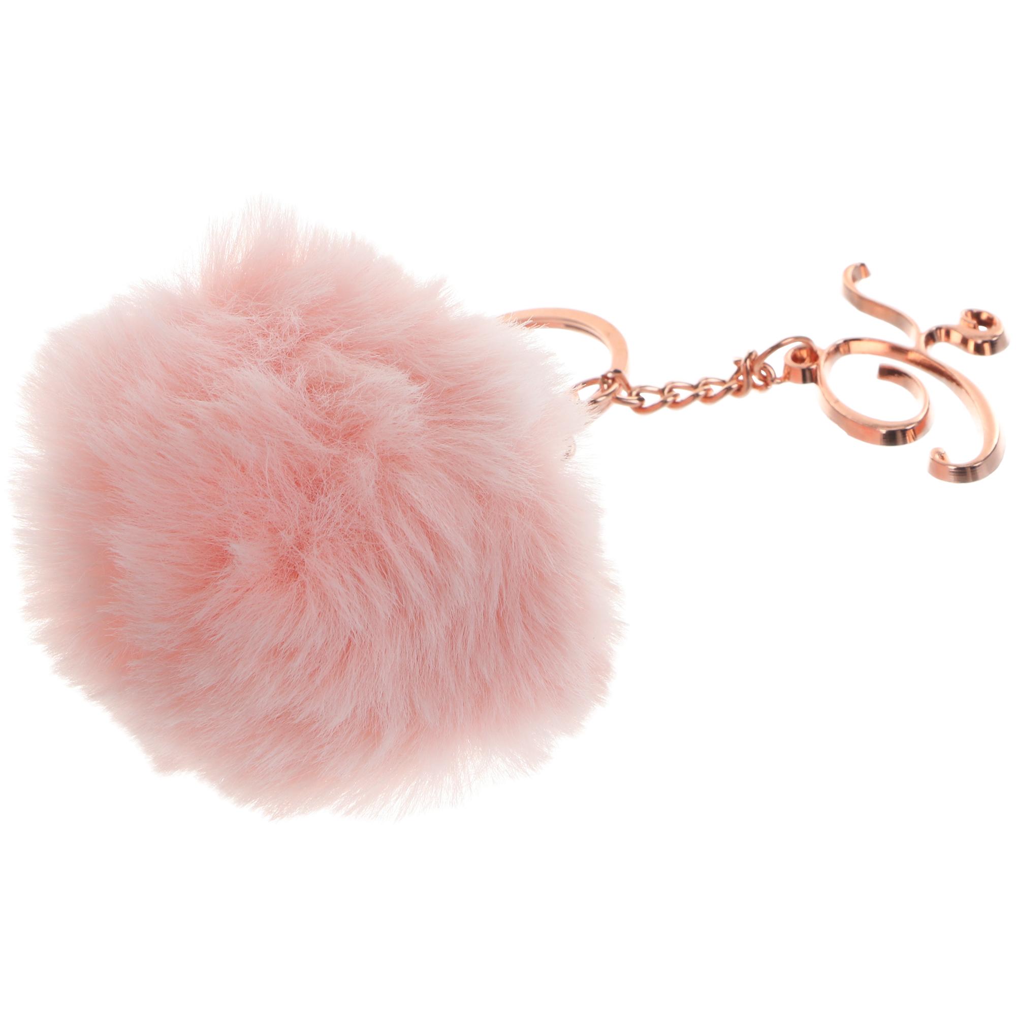 Брелок Би-Хэппи помпон розовый