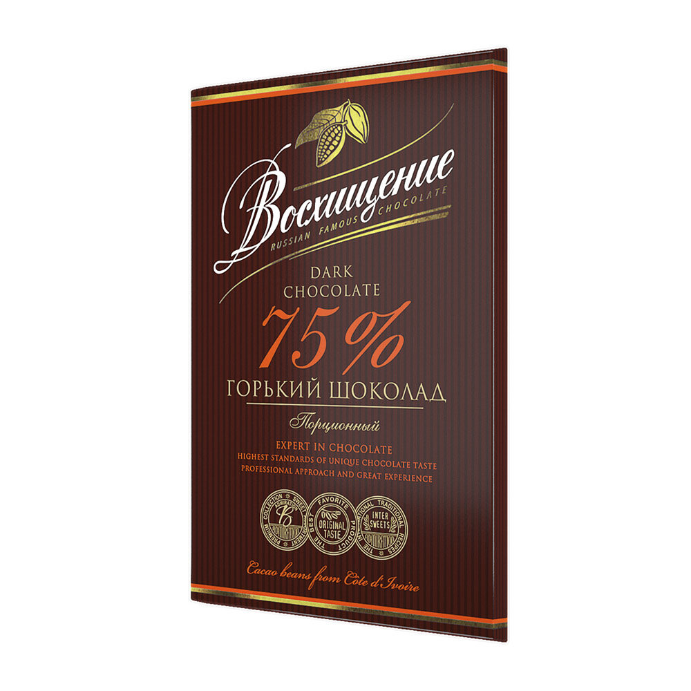 шоколад вдохновение горький с миндалем 75% 100 г Шоколад Волшебница горький Восхищение 75% 100 г