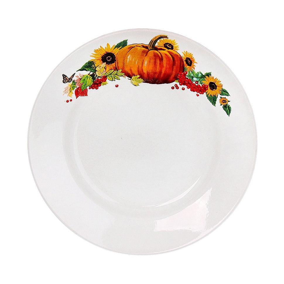 Тарелка мелкая Vellarti Тыква 20 см фото