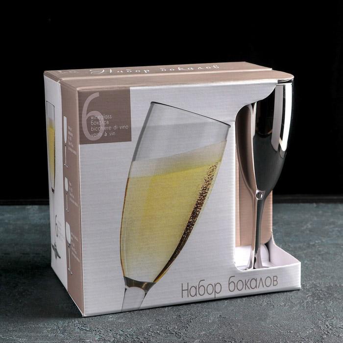 Набор бокалов для шампанского Радуга 170 мл 6 шт N1687/06r набор бокалов для шампанского виола 190 мл