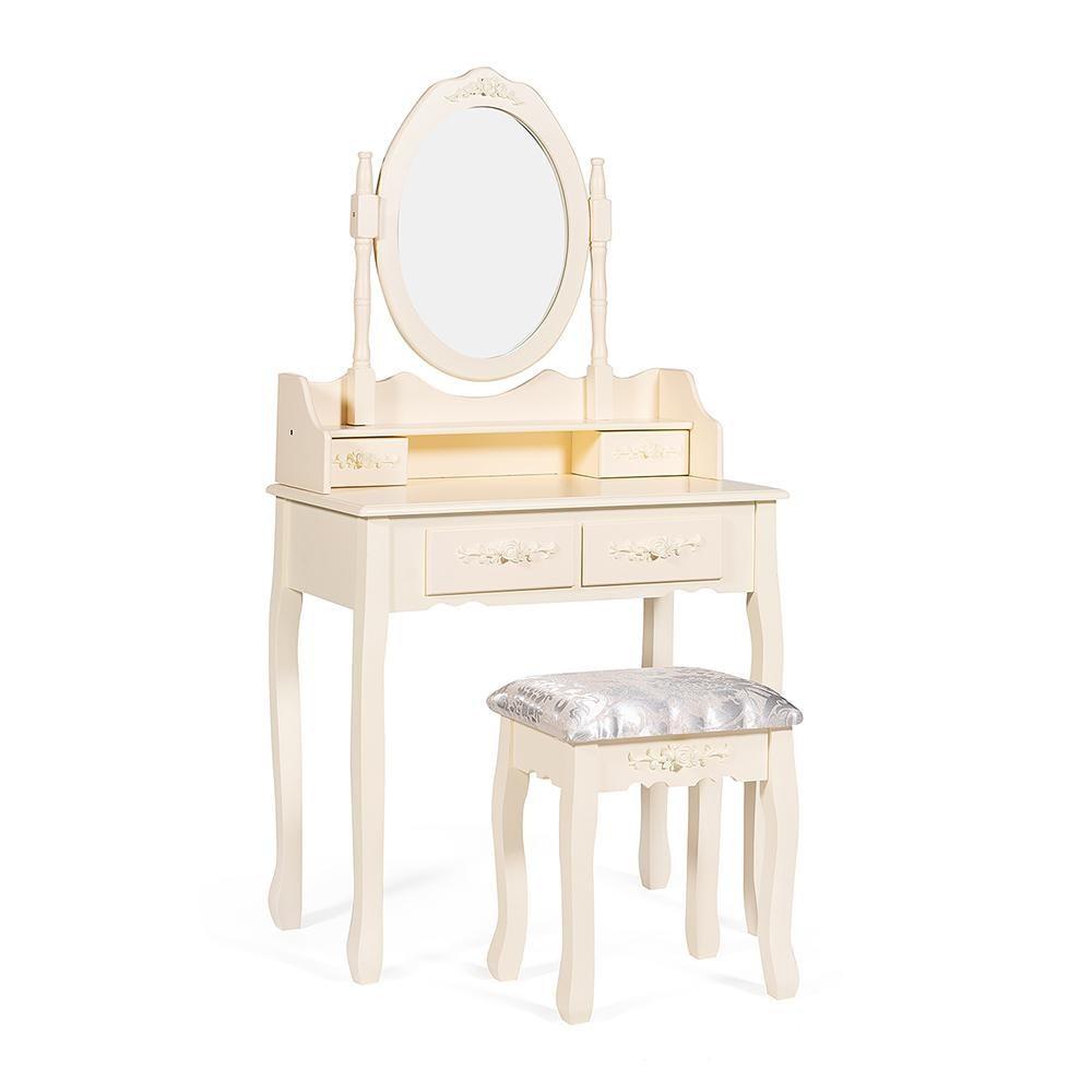 Столик туалетный SDM с табуретом 75х40х141 см