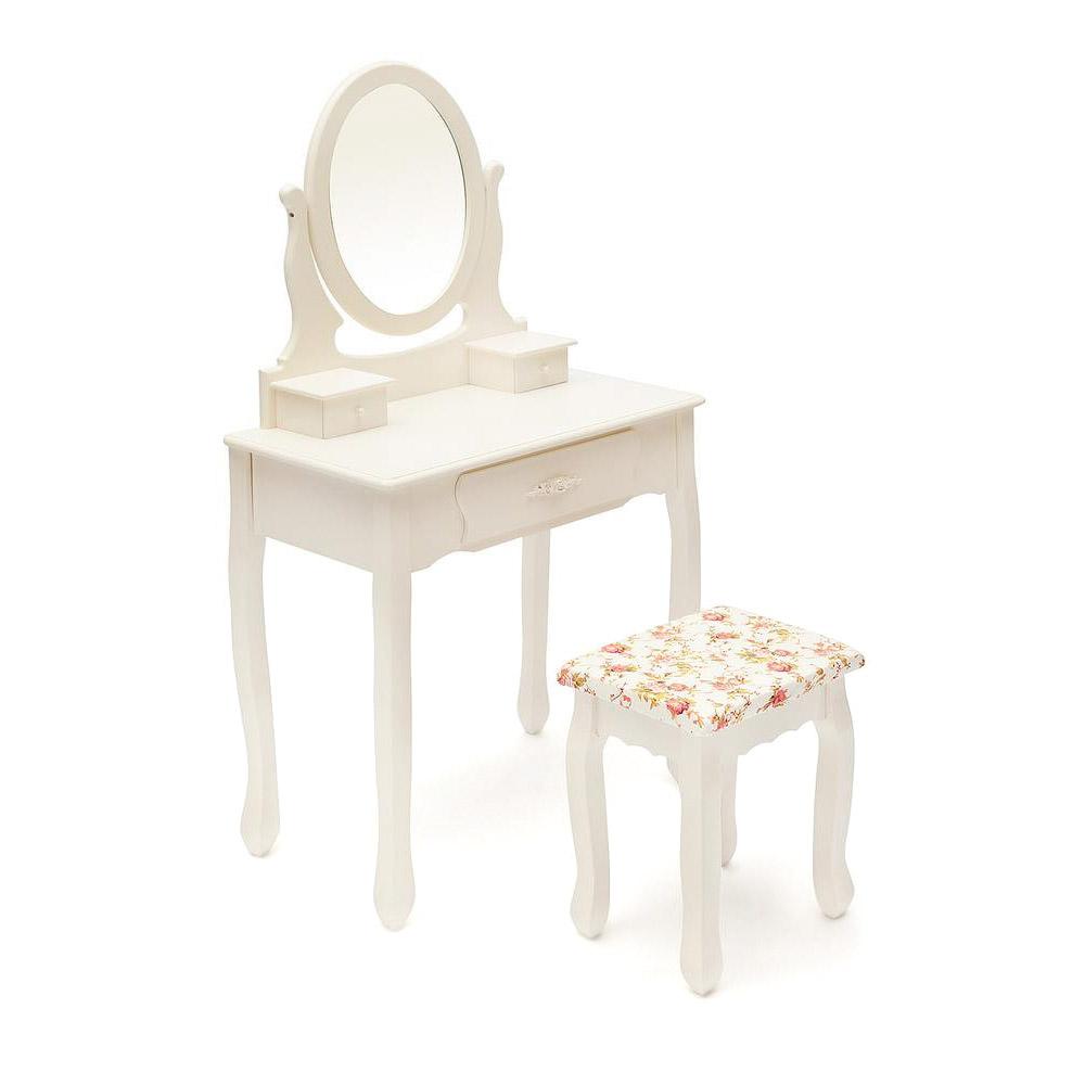 Столик туалетный SDM butter white 70х40х130 см