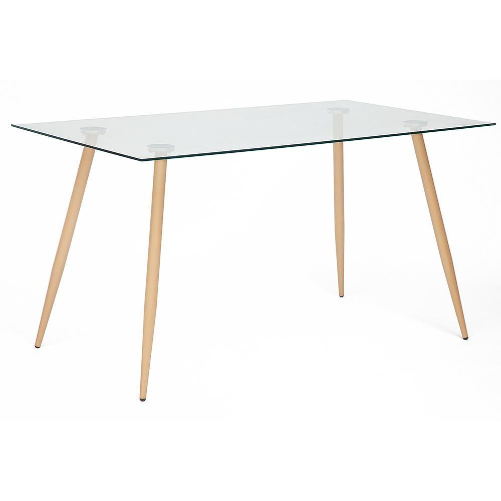 Стол кухонный TC стекло 140х80х75 см