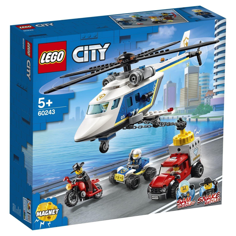 Фото - Конструктор Lego City Погоня на полицейском вертолёте конструктор lego jurassic world погоня за птеранодоном 75926