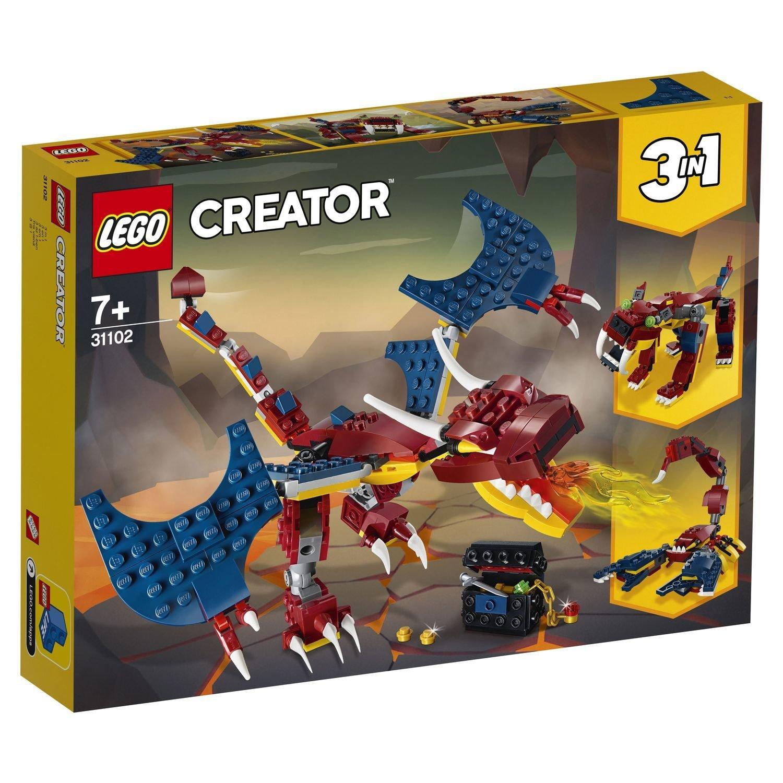 Конструктор Lego Creator Огненный дракон конструктор creator lego lego mp002xb00cac